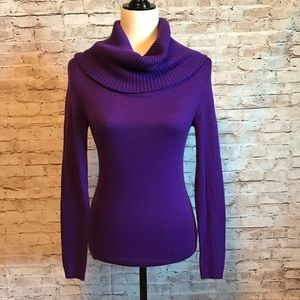 Purple Gap loose turtleneck sweater